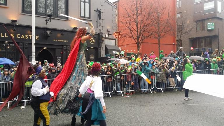 Parada z okazji st. Patrick's Day w Dublinie