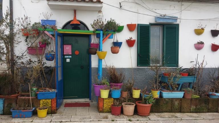 Kolorowe domy w Bari