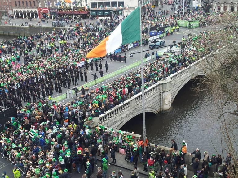 Parada dzień św. Patryka w Dublinie