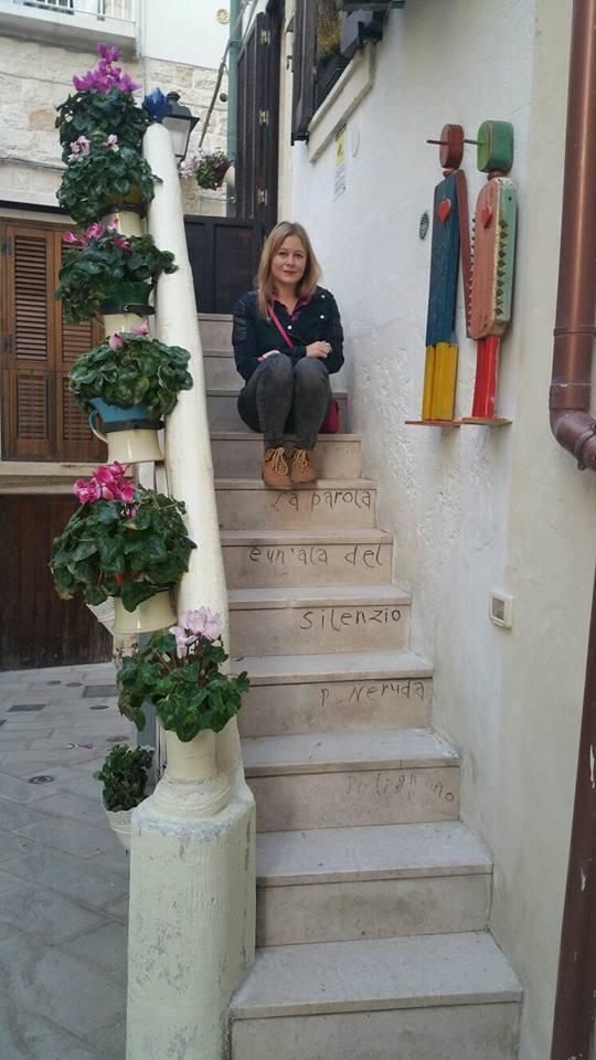 Polignano a Mare - poezja na schodach