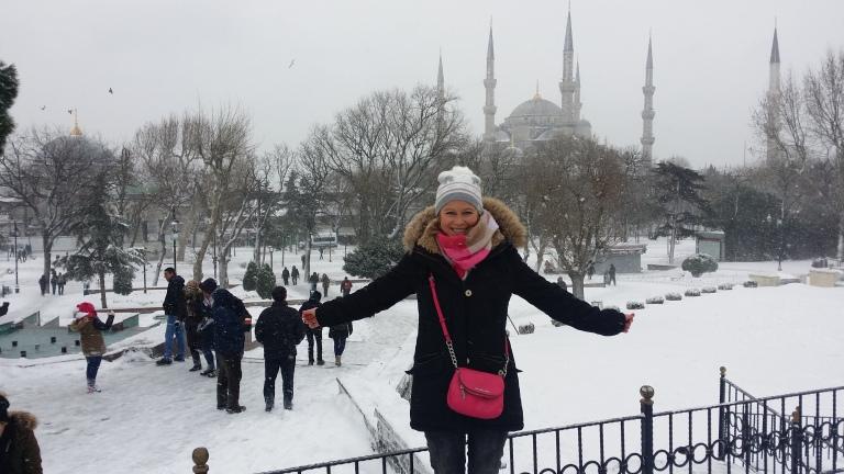Sultanahmet zimą