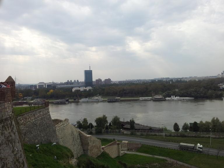 widok z fortyfikacji w Belgradzie
