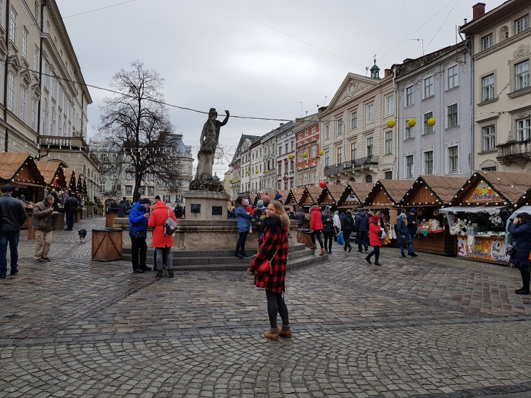 Jarmark świąteczny we Lwowie