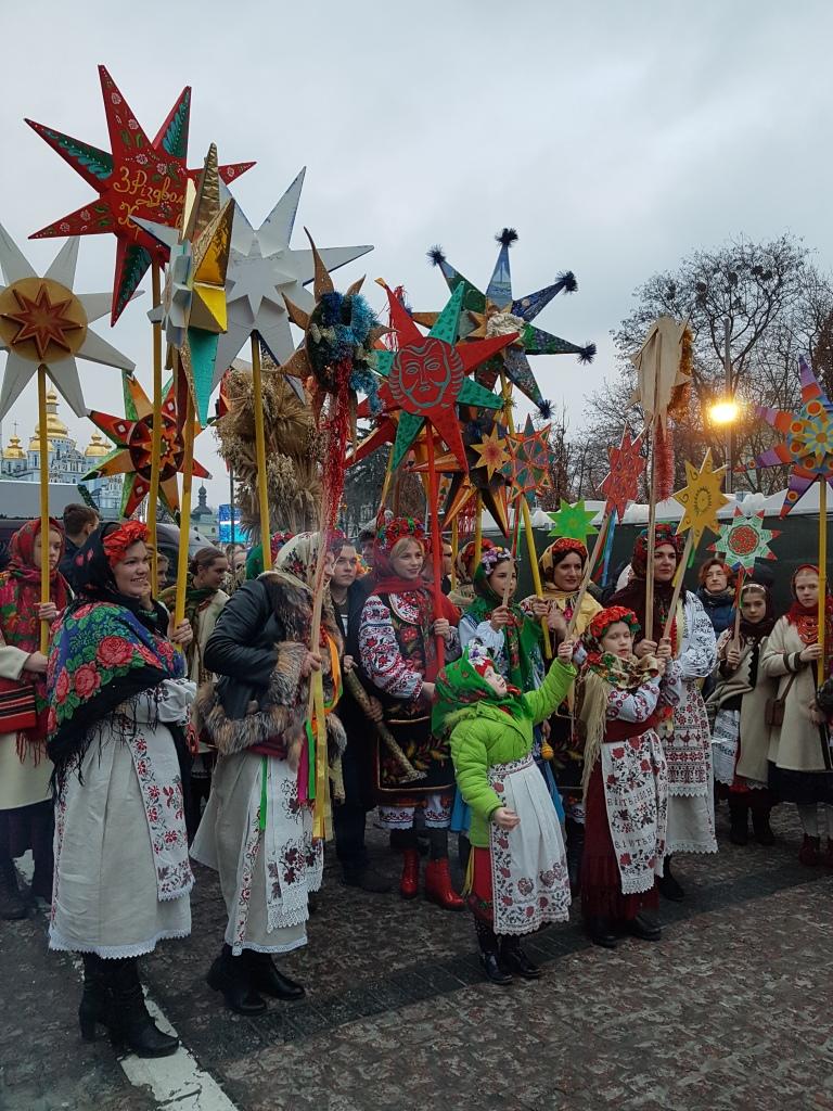 Święta w Kijowie, Boże Narodzenie, kolędnicy 1