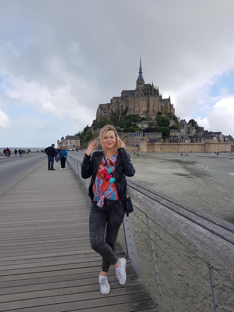 w drodze na wyspe Mont St Michel