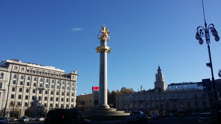 Pomnik sw. Jerzego, pomnik wolnosci, tbilisi